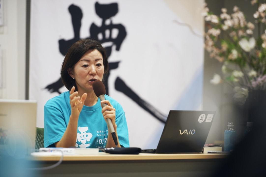 セッション風景_株式会社シナプス村上氏がマーケティングとは「選ばれること」と「選ばれ続けること」について語る