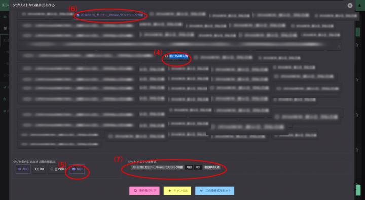 ターゲティングメールを送信する顧客データの抽出事例(除外条件あり場合)