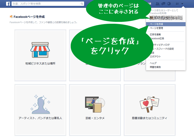 Facebook企業アカウントの開設